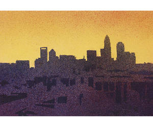 charlotte, etsy, and watercolor landscape image
