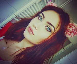 beauty, crystal, and flower headband image