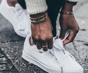 basket, Blanc, and chaussure image