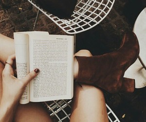 book, brown, and fall image