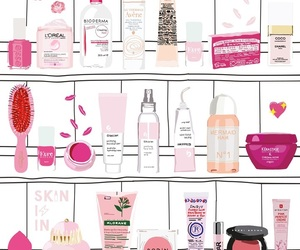 glossier, pink, and wallpaper image