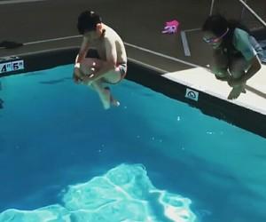 jump, kids, and pool image