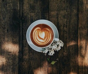 coffee, fancy, and flowers image