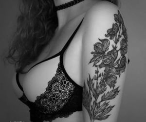 flowers, Tattoos, and aconit image