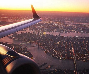 background, city, and plane image