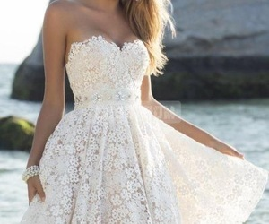 dress, white, and summer image