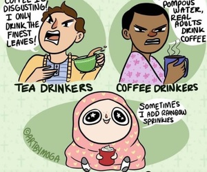 funny, tea, and coffee image