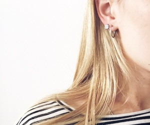 blonde, earing, and fashion image