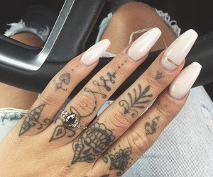 tattoo, nails, and style image