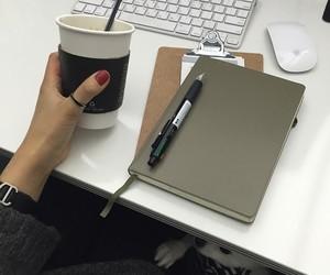 coffee, desk, and minimal image