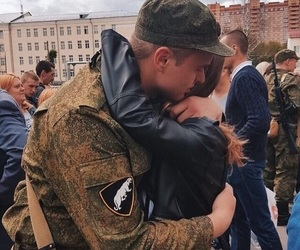 army, couple, and love image