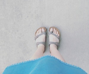August, blue, and fashion image
