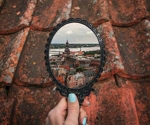 adventure, city, and mirror image