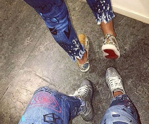 louboutin, jean, and sneakers image