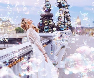 girl, bubbles, and pretty image