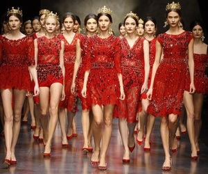 fashion, red, and model image