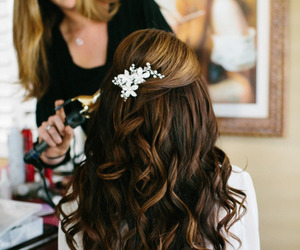beautiful, brunette, and hairstyle image
