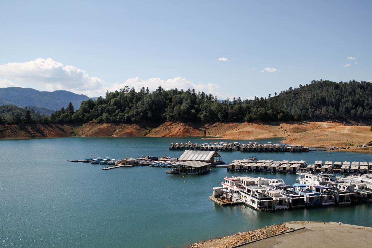 boats, california, and lake image