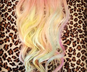 extensions, hair, and pastel image