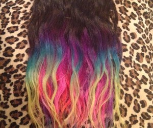 extensions, hair, and ombre image