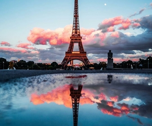 blue, paris, and sky image