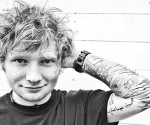 ed sheeran, ed, and black and white image