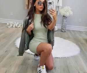 fashion, girl, and dress image