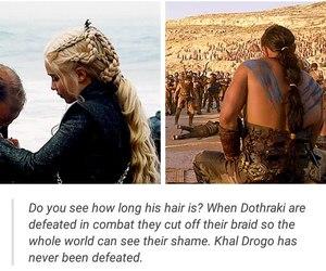 game of thrones, daenerys targaryen, and drogo image