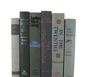 books, table setting, and vintage books image