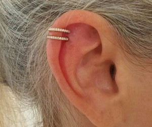 piercing, helix, and ear image