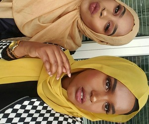 girl, hijab, and islam image