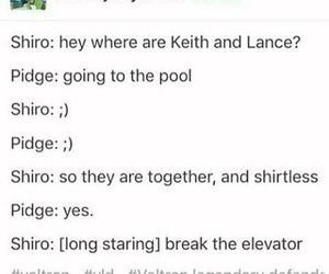 shiro, Voltron, and pidge image