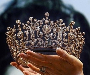 crown, luxury, and gold image