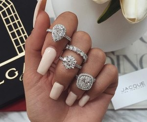 nails, luxury, and rings image