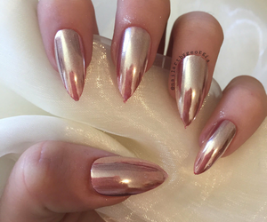 nails and rose gold image