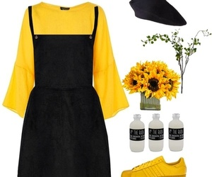 black, sunflower, and top image