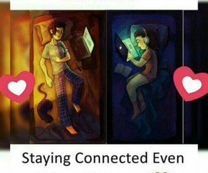connected, distance, and true image