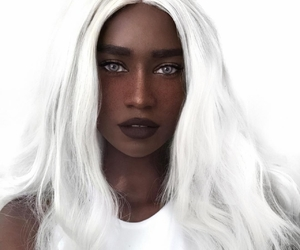 white and white hair image
