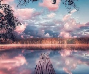 sky, nature, and pink image