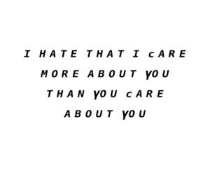 I Love You, sad, and yourself image