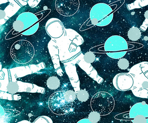 astronaut, background, and pattern image