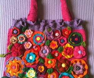 crochet, bolsa, and artesania image