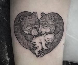 animal, bear, and body art image