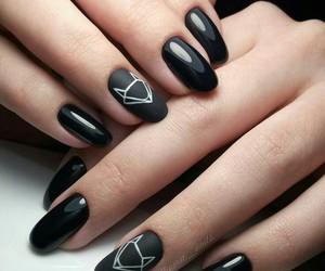nails, fox, and black image