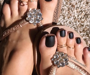 black, jewelry, and black nails image
