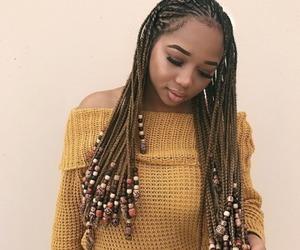 black girl, box braids, and braids image