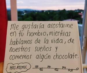 amor, chocolate, and frases image