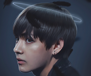 v, bts, and army image