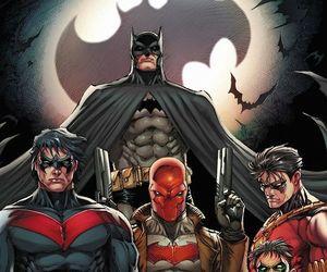 batman, robin, and DC image