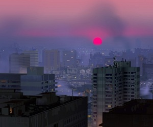 aesthetic, city, and sunset image